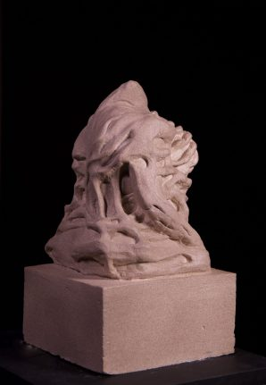 "Collective Unconscious; Reclamation, plaster cast and textured paint 15"" x 8.5"" x 8.5"""