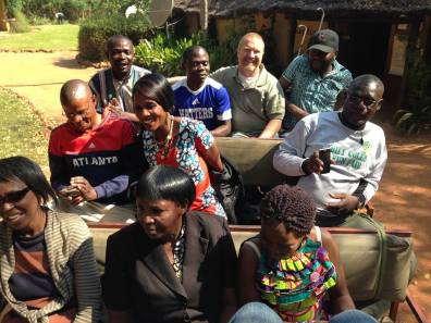 Wiphan leaders enjoyed a game drive at Nsobe game park (Photo Creds: Mom)