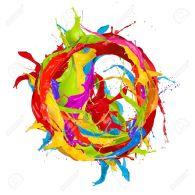 18585718-Colored-paints-splashes-circle-isolated-on-white-background-Stock-Photo