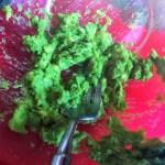 Avocado shown mashed in a bowl to make Healthy Avocado Salad Dressing