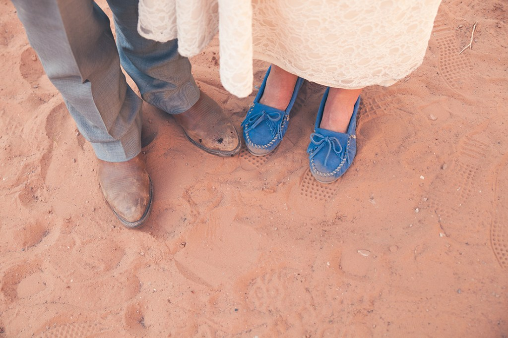 Wyoming wedding photographer captures couples moccasins and boots
