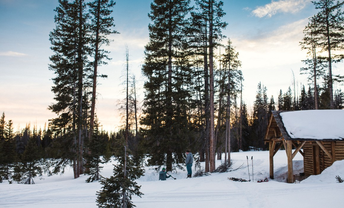 The Snow Survey Cabin, Snowy Range Mountains Wyoming is a great place for a wintry get-away!