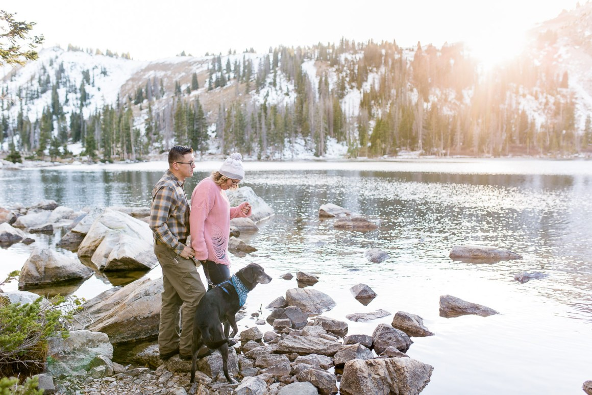 Snowy Range Mountains Wyoming Couples Session Photography by Laramie Based wedding photographer