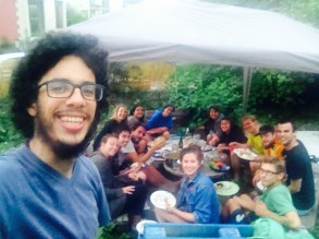 Andres is the master of group selfies