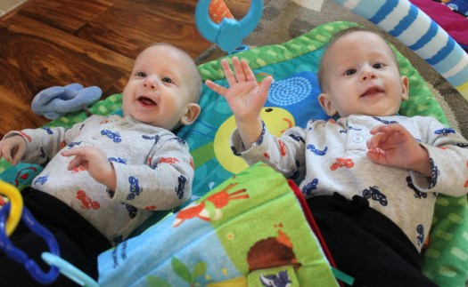 Braxton and Koleson, my cousin's twins and two of the four new babies I got to meet on my trip.