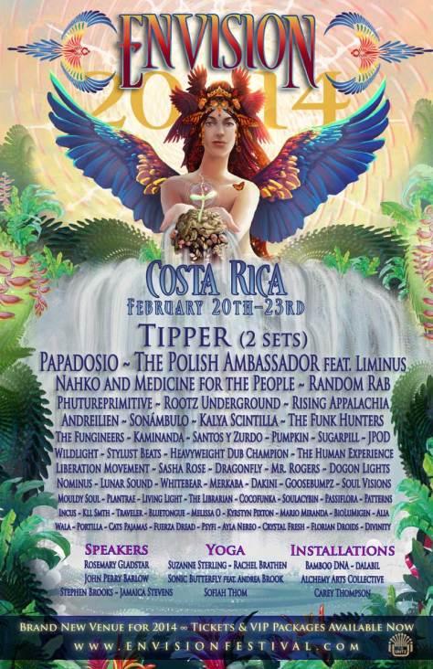 Envision Festival 2014 Music Lineup