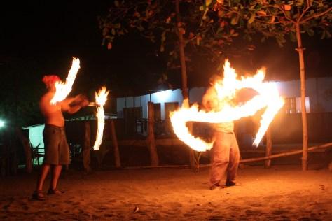 Ruben and James Spin Fire at Paraiso Bikini