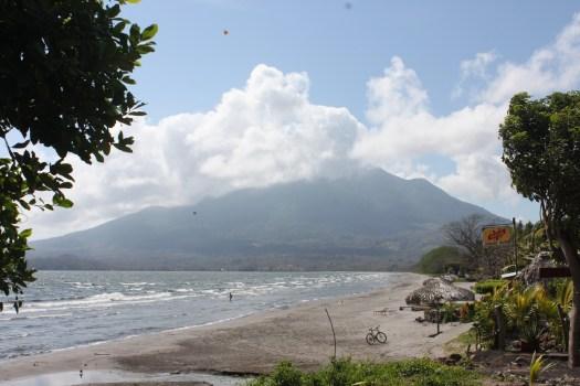 Playa Santo Domingo and Volcan Maderas on Ometepe, Nicaragua 2014