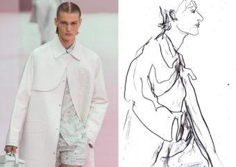 Recent work | Esquire Singapore | Paris Fashion Week Men's SS20 as seen through the eyes of a fashion illustrator