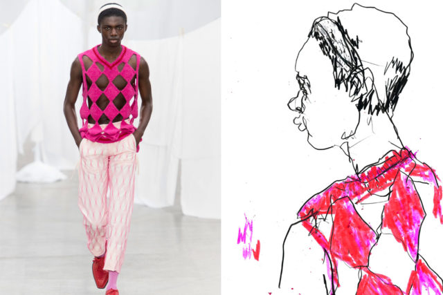 Recent work   Esquire Singapore   London Fashion Week Men's SS20 as seen through the eyes of a fashion illustrator