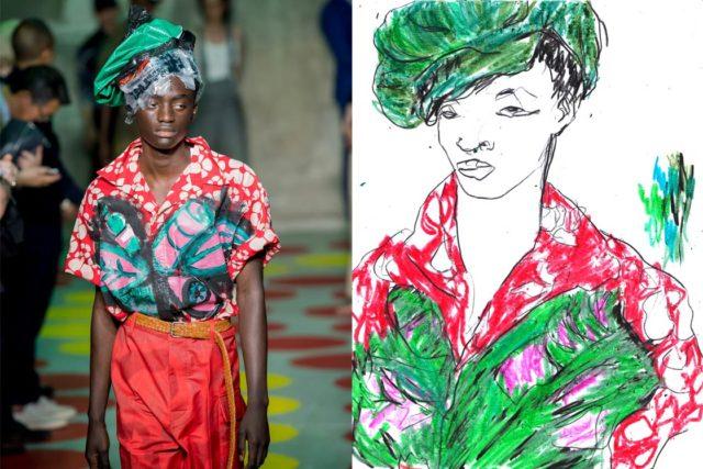 Recent Work | Esquire Singapore | Milan Fashion Week Men's SS20 as seen through the eyes of a fashion illustrator