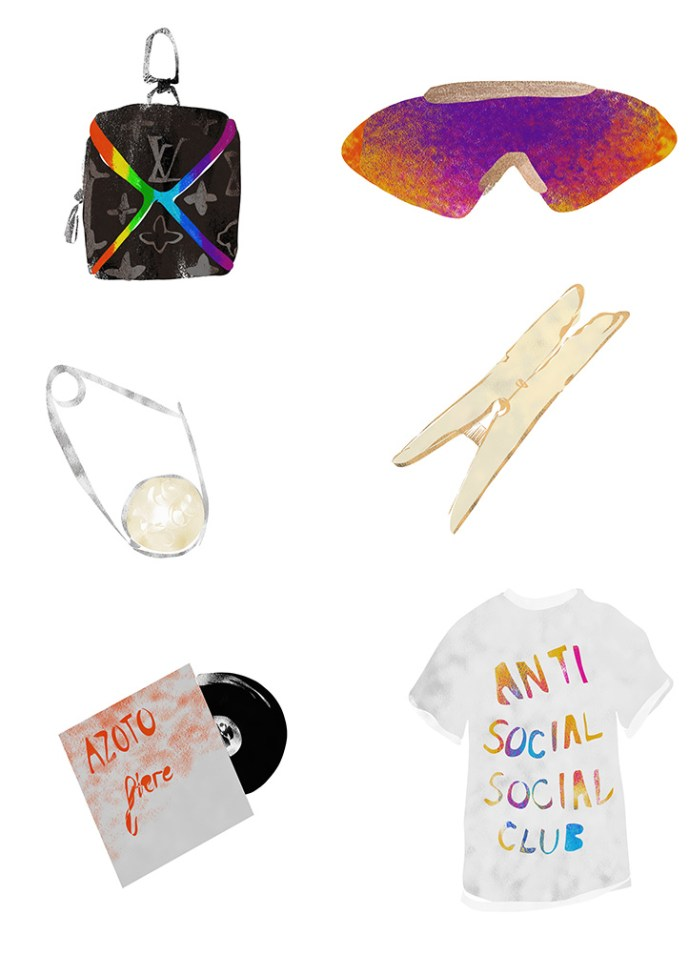 A selection of items for mens gift ideas by fashion and lifestyle illustrator Megan St Clair