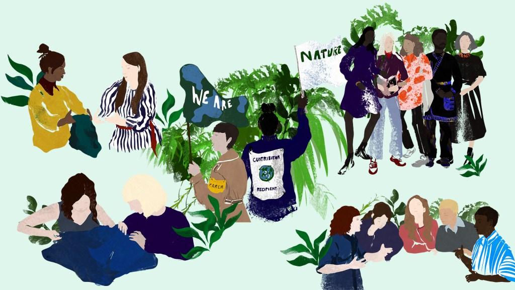 editorial illustration of the team at Centre for Sustainable Fashion by fashion illustrator Megan St Clair