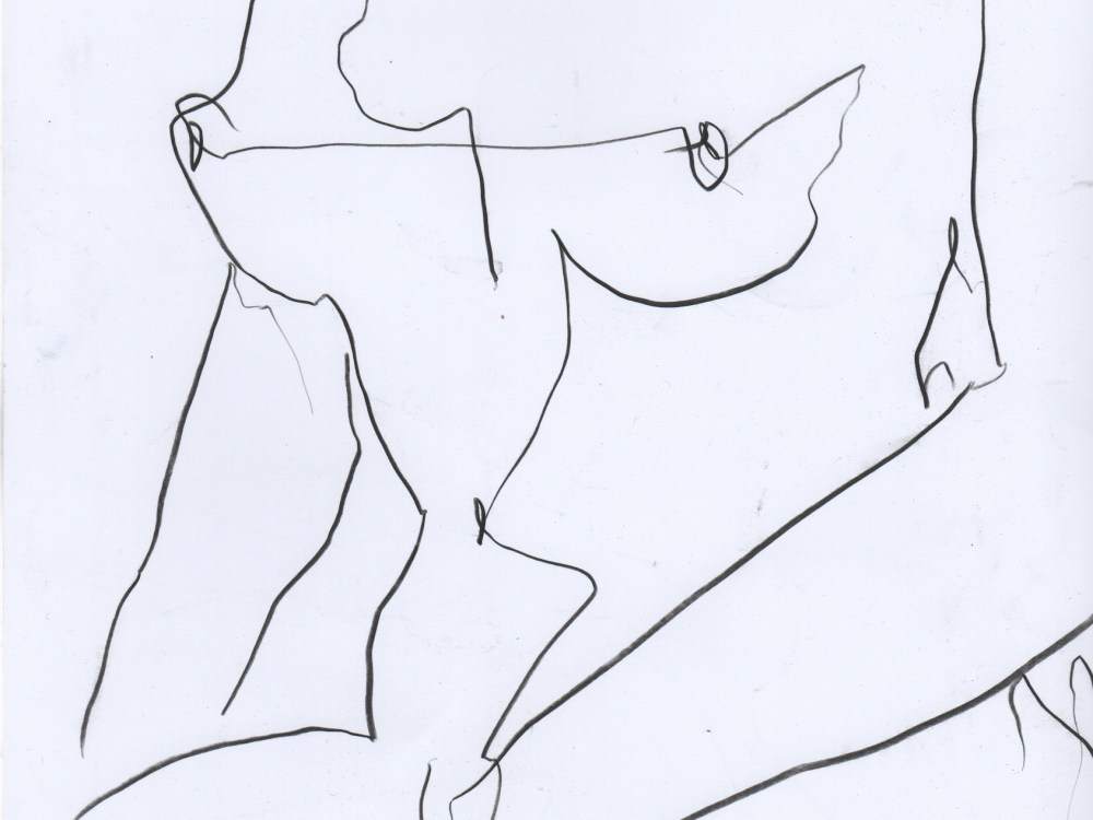 Nude drawing of woman in minimal line art by Megan St Clair 4