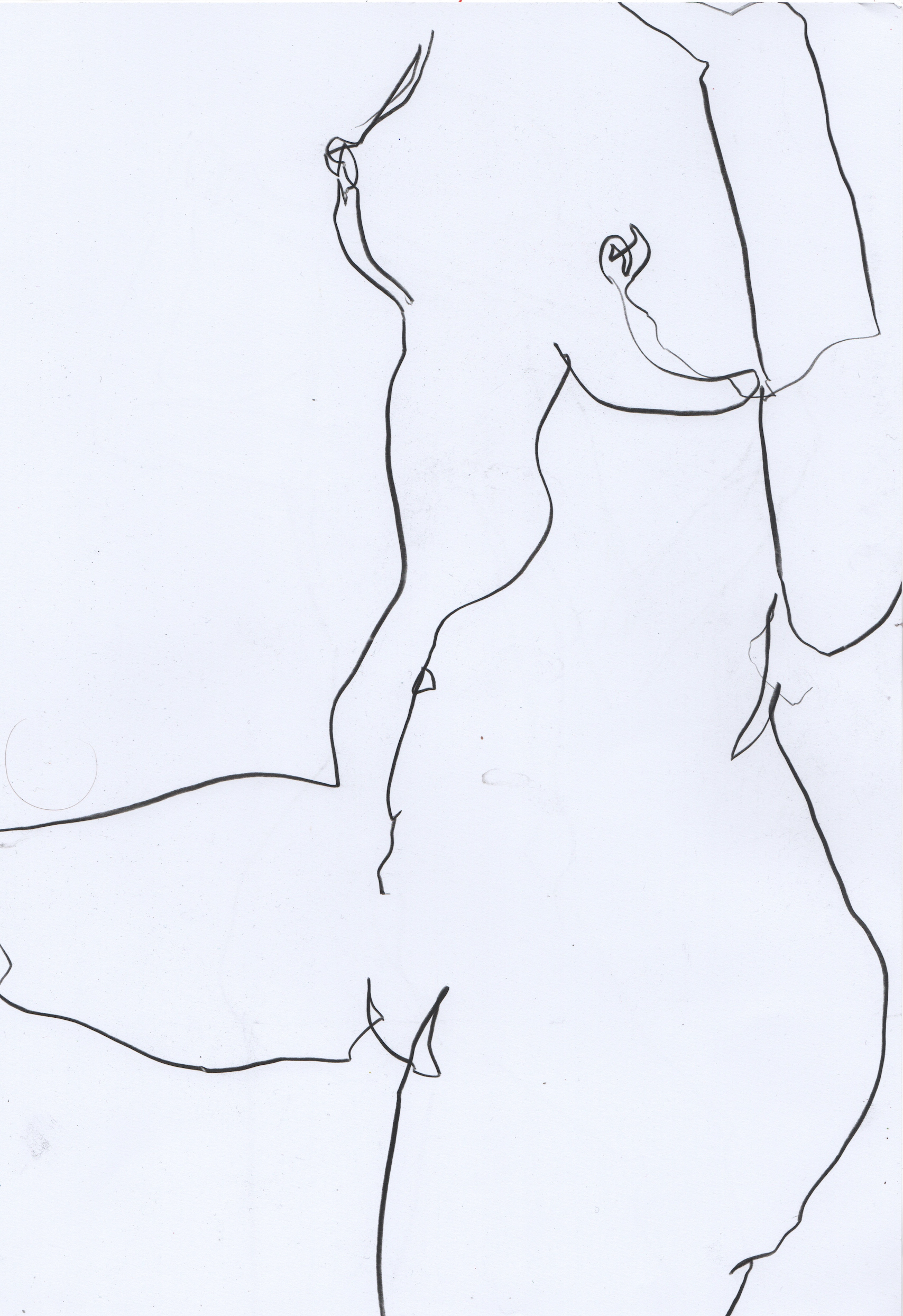 Nude drawing of woman in minimal line art by Megan St Clair 5