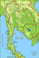 Map of North Thailand