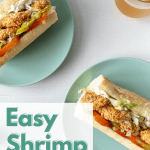 Easy Shrimp Po'Boy on a green plate
