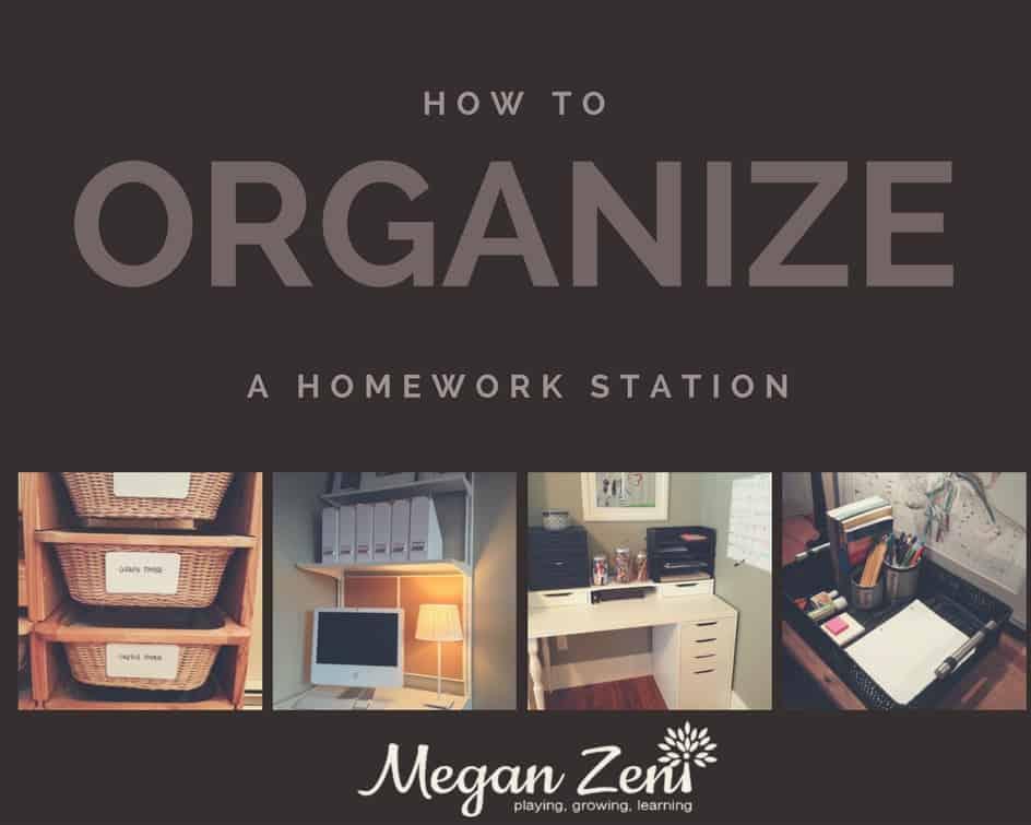 Hoe to organize a homework station