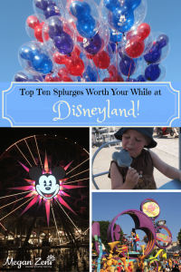 top ten splurges at Disneyland