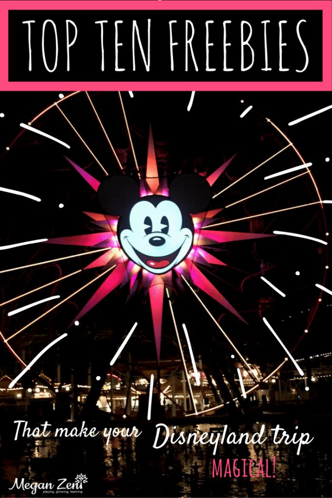 Disneyland freebies