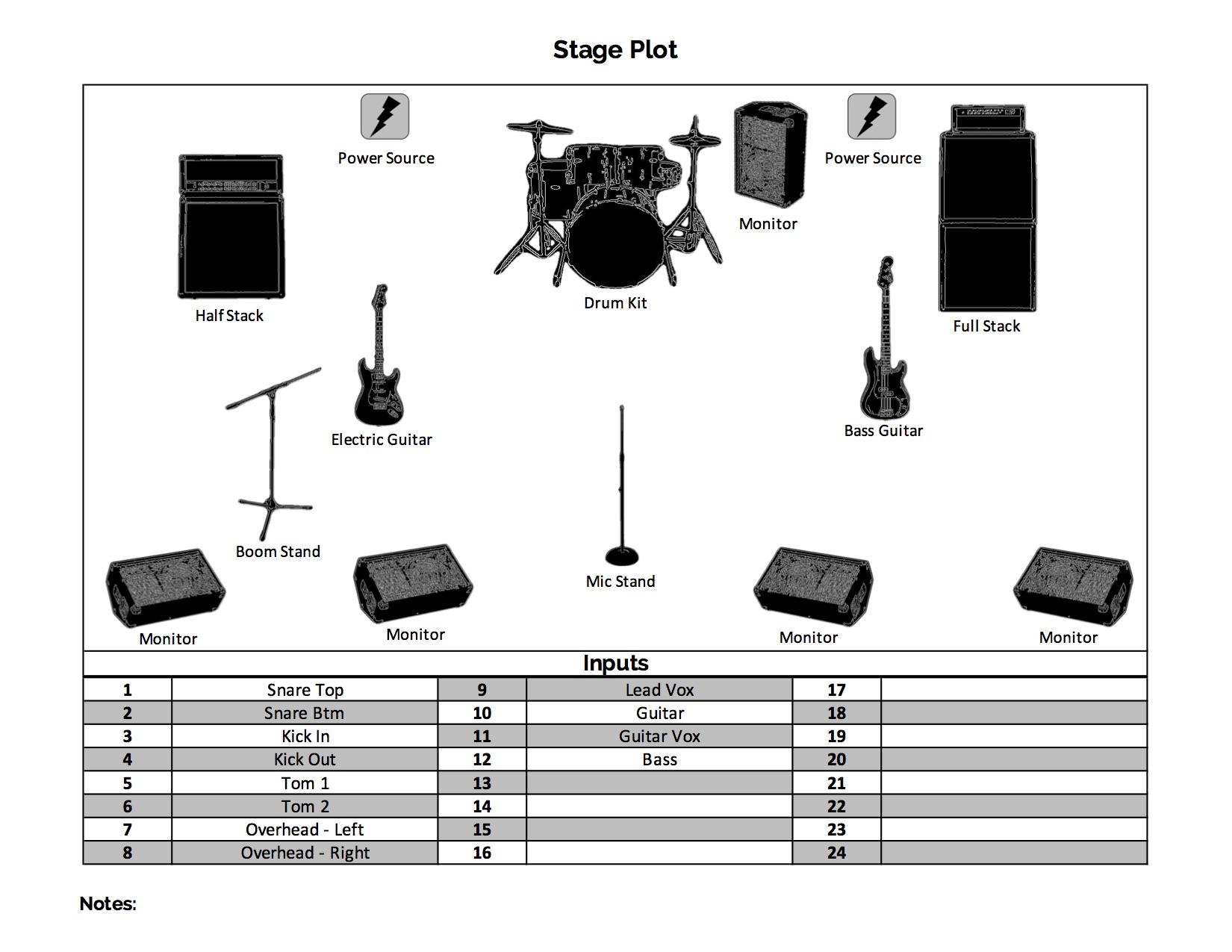 Stage Plot Designer Megaphone Agency