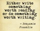 Something worth writing #motivation #inspiration #amwriting {Megaphone Society}