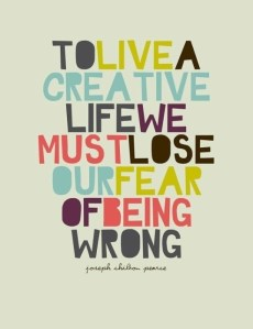 To live a creative life #motivaton #inspiration #amwriting {Megaphone Society}