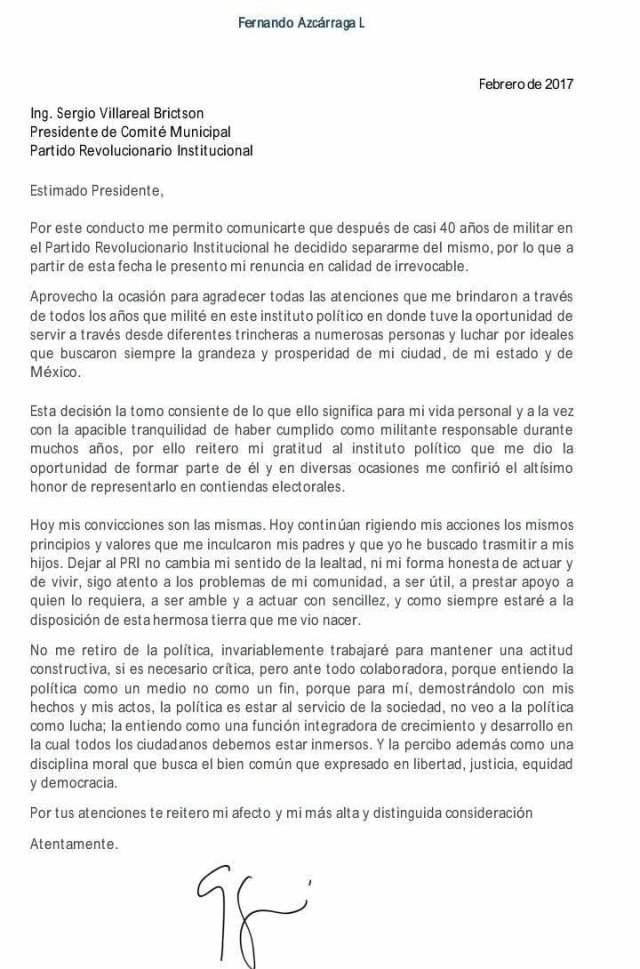 Renuncia Fernando Azcarraga al PRI en Tampico2