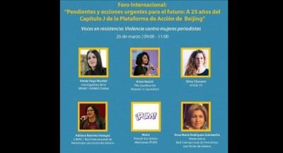 Interesante Foro de Periodistas, promoviendo los Derechos de la Mujer
