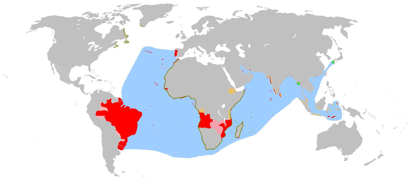 Mapa del Imperio Portugués