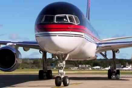 Mira el documental sobre el ULTRA LUJOSO avión privado de Donald Trump valorado en $100 MILLONES