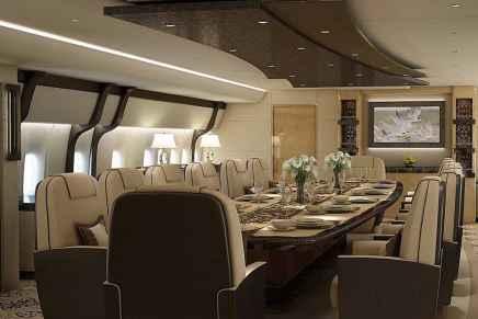 Greenpoint Technologies crea este ultra lujoso interior de $600 MILLONES para un avión privado Boeing 747