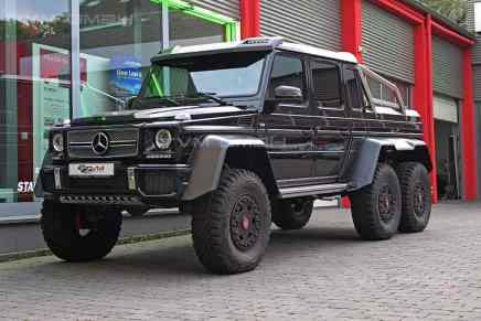 Bestial todoterreno Mercedes-Benz G63 6X6 ¡Este increíble monstruo de 6 ruedas puede ser tuyo por €688.000!