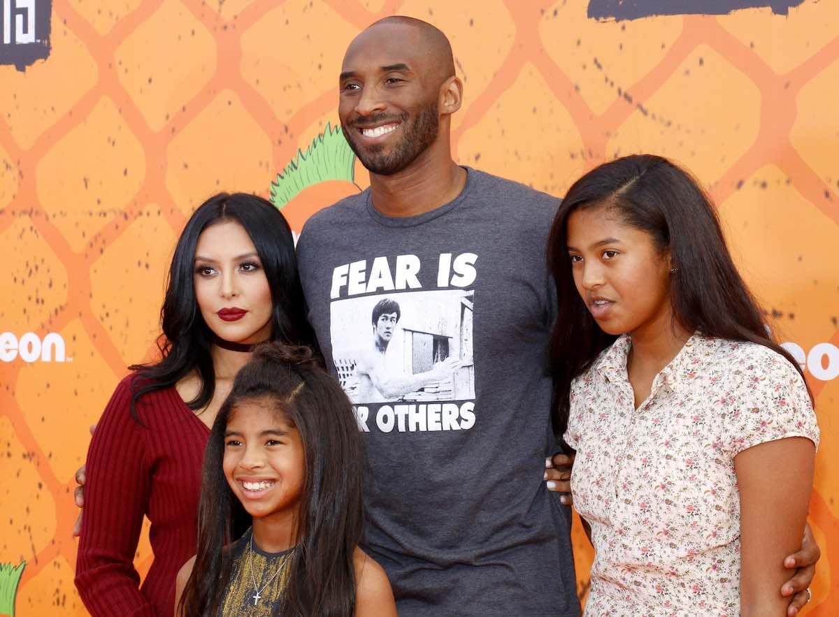 Kobe Bryant y su familia