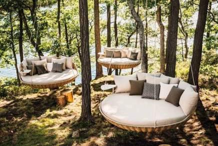 """Exclusiva hamaca DEDON """"Swingrest"""" — Perfecta para colgar en la terraza, porche o bajo techo, diseñada por Daniel Pouzet"""