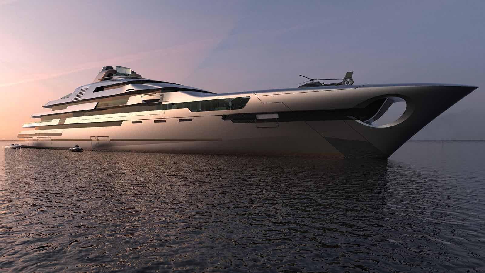 Nuevo concepto de mega yate de 140 metros por Ken Freivokh Design