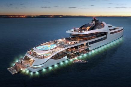 """Colosal mega yate """"Admiral X Force 145"""", un imponente PALACIO EN EL MAR repleto de lujos y confort, y cuya construcción costará ¡$1.000 MILLONES!"""