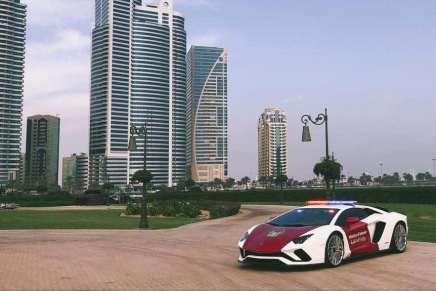 Este Lamborghini Aventador Coupe se une a la flota del Ministerio de Interior de los EAU