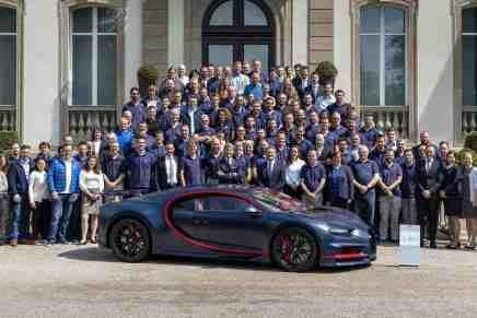 El Bugatti Chiron No.100 deja la fábrica con destino a su multimillonario dueño, y lleva un precio de $3,34 millones