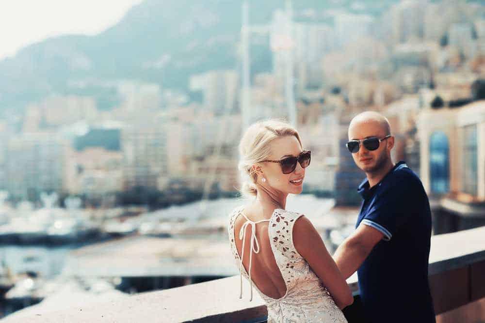 Joven pareja en Mónaco