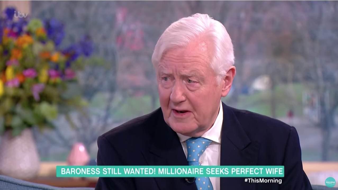 Millonario Sir Benjamin Slade, de 72 años, está buscando una nueva esposa que le dé un heredero y le pagará un salario de $65.000 al año