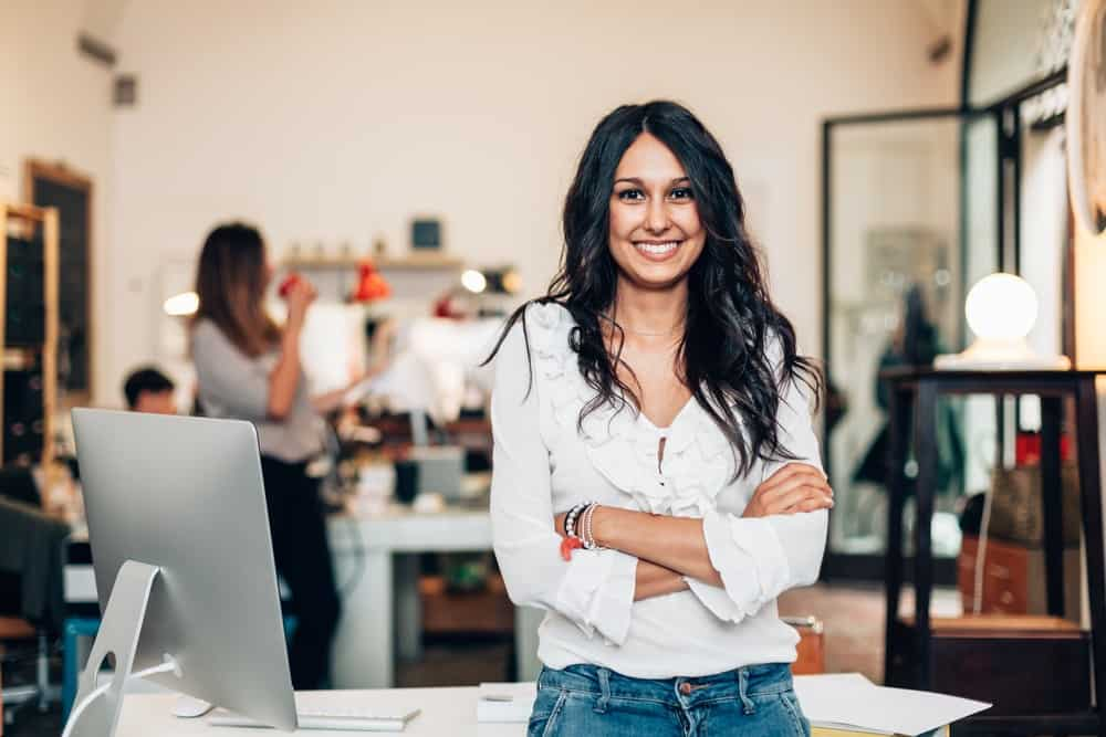 Mujer líder de nueva empresa