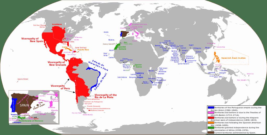 Mapa del Imperio Español