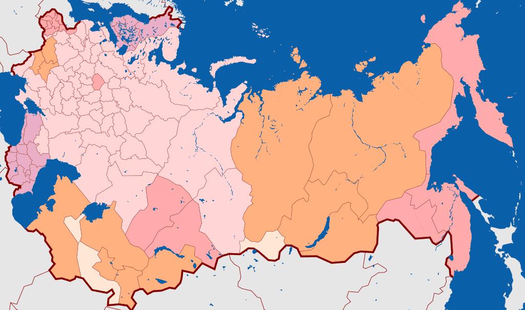 Mapa del Imperio Ruso