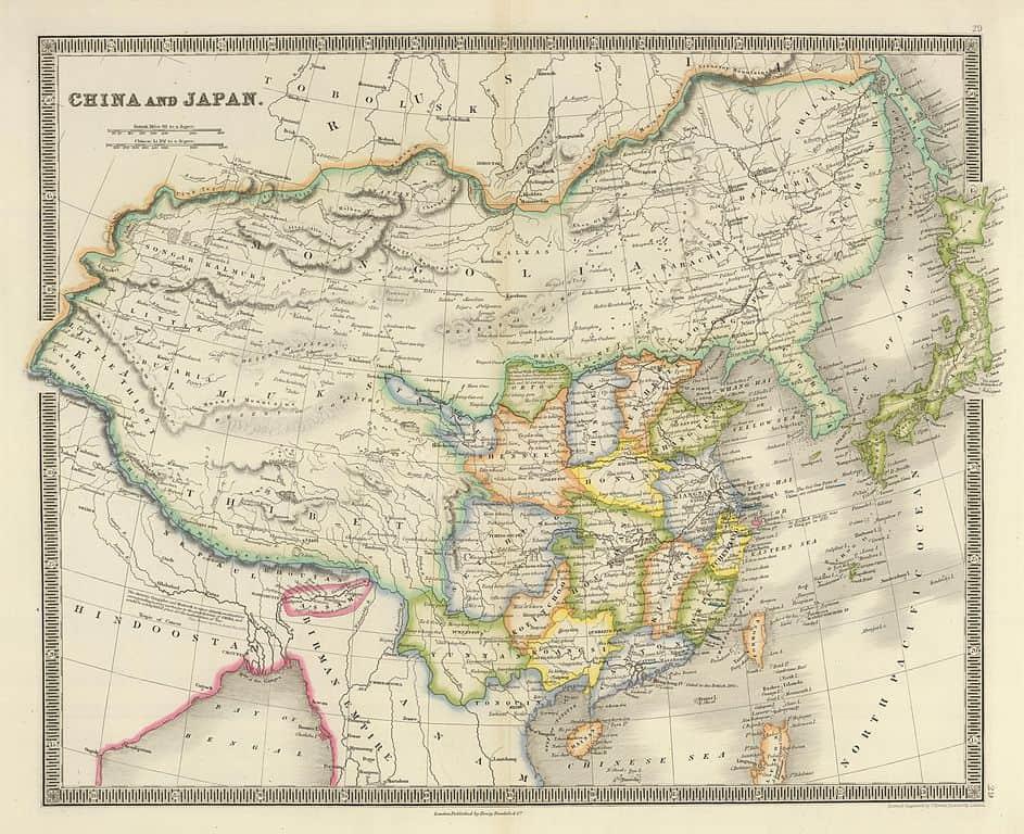Mapa de La Dinastía Qing