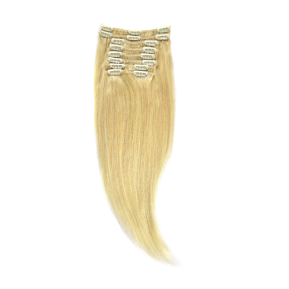 Clip-On Par Natural 30cm 80gr Blond Deschis #60