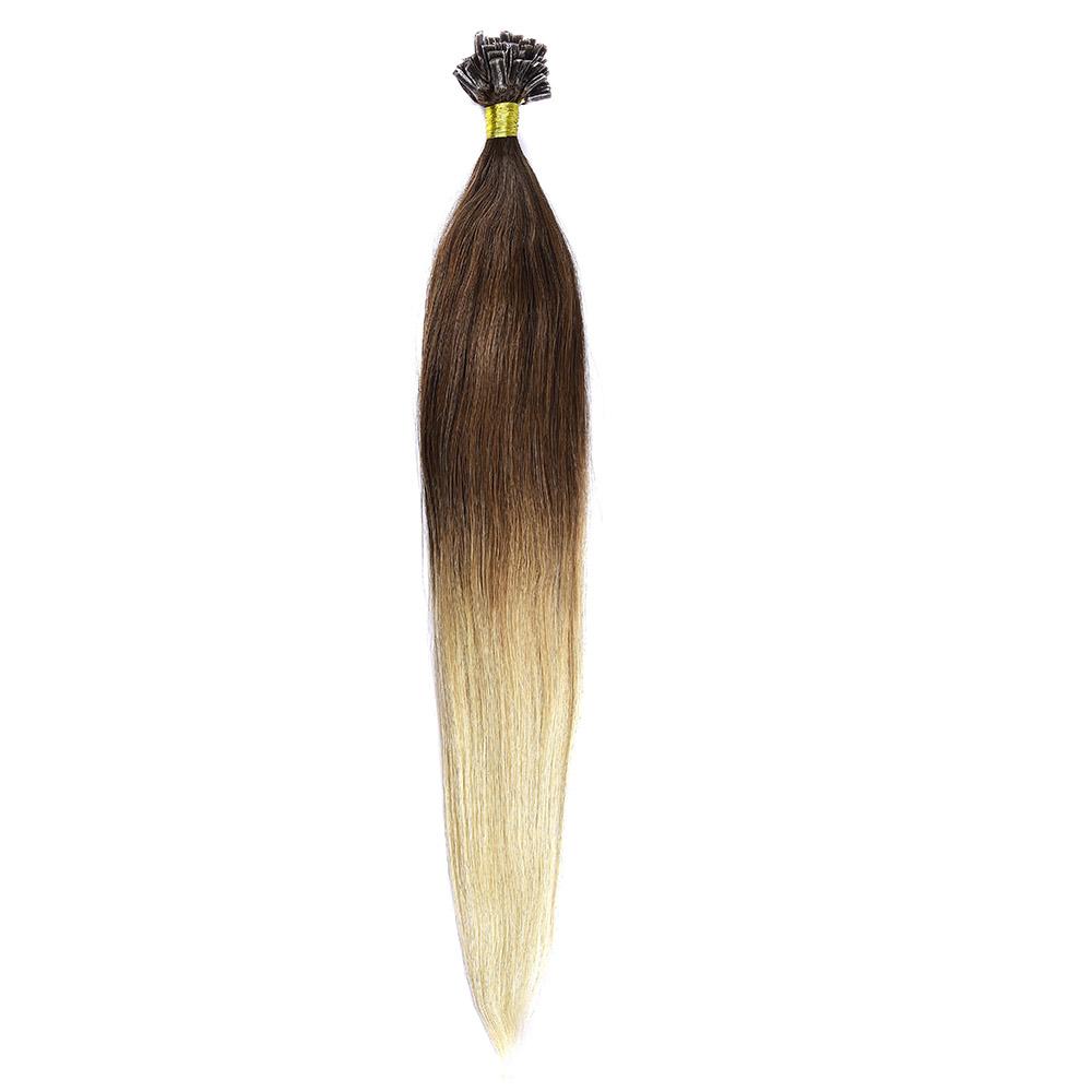 Cheratina Par Natural 50cm 50suv 1gr/suv Ombre Saten Ciocolatiu-Blond Deschis #T4/60