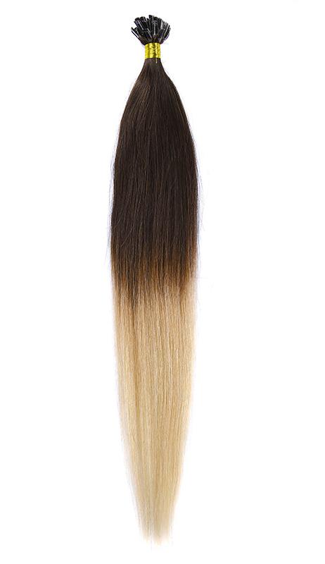 Cheratina Par Natural 50cm 50suv 1gr/suv Ombre Castaniu/Blond Deschis #T2/60