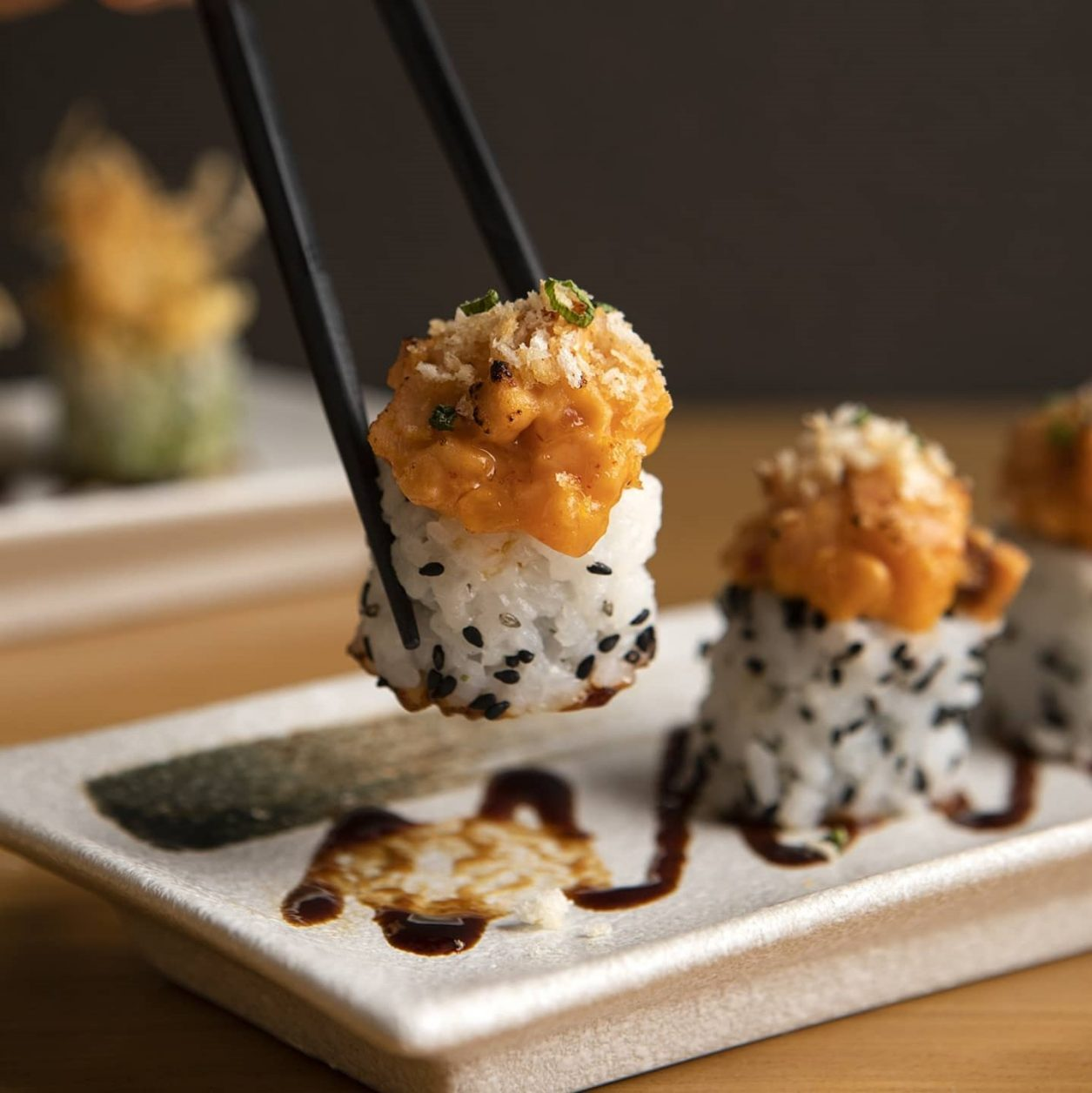 Ippudo's Aburi Spicy Salmon Roll
