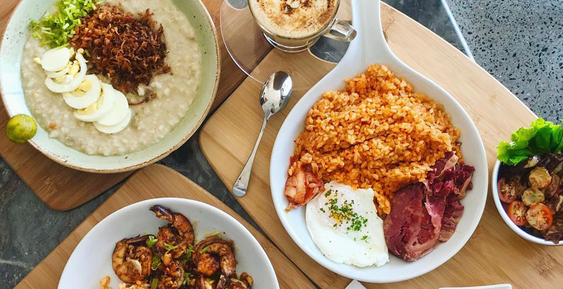 Corned beef rice meal and arrozcaldo from UCC Clockwork